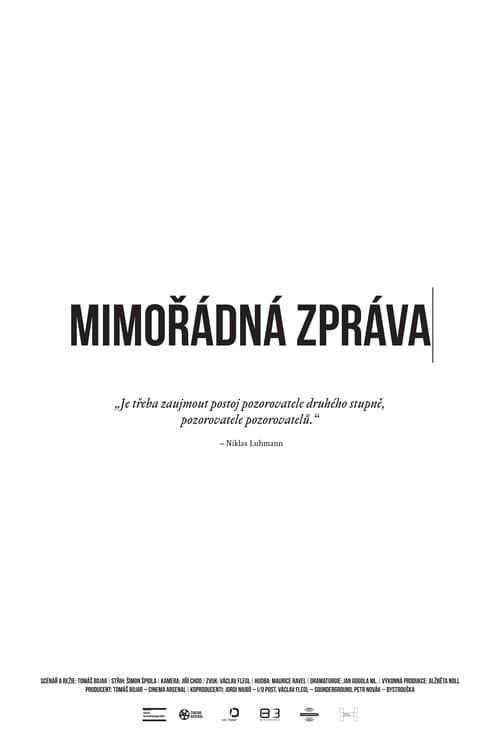 Filme Mimořádná zpráva Em Português
