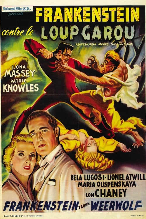 Regarder Frankenstein rencontre le loup-garou Entièrement Dupliqué