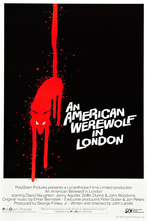 The poster of An American Werewolf in London