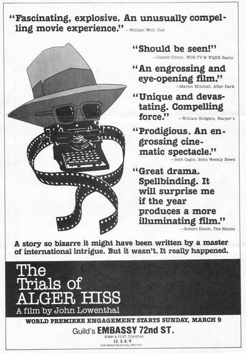 Assistir Filme The Trials of Alger Hiss Completamente Grátis