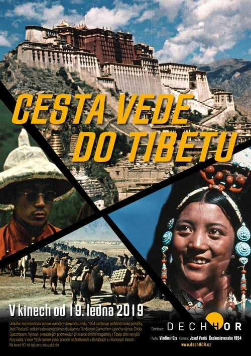 Cesta vede do Tibetu 1956
