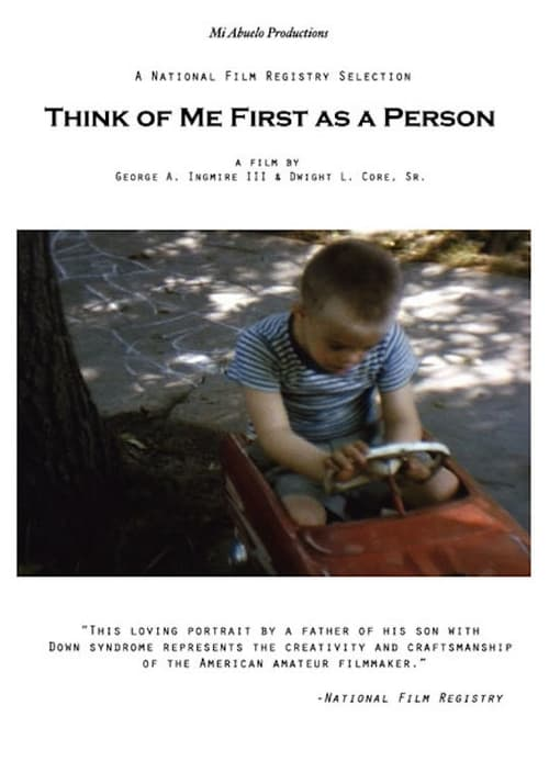 Think of Me First as a Person
