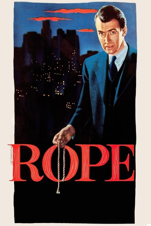 "Movie poster for ""Rope""."