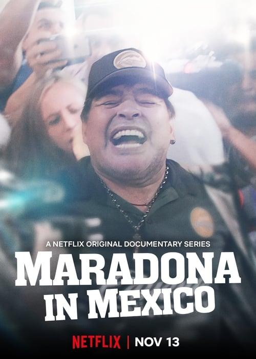 Banner of Maradona in Mexico