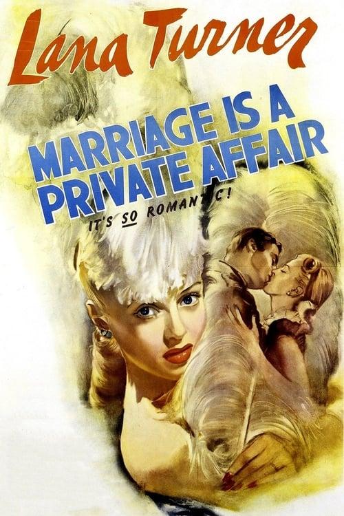 Película Marriage Is a Private Affair Gratis En Español