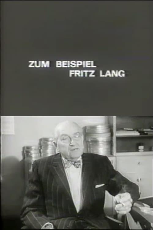 Zum Beispiel: Fritz Lang