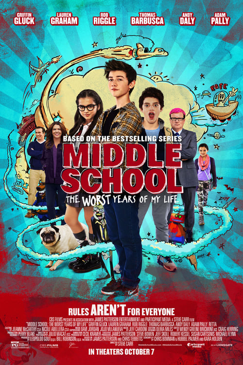 Streaming Middle School: The Worst Years of My Life (2016) Full Movie