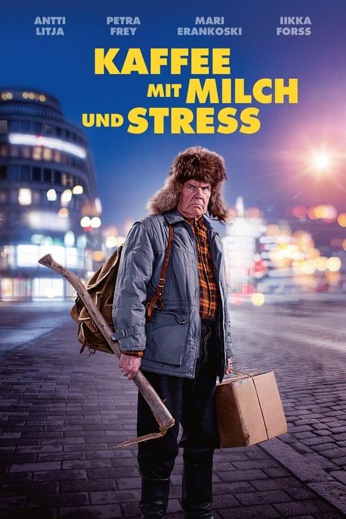 Poster von Kaffee mit Milch und Stress