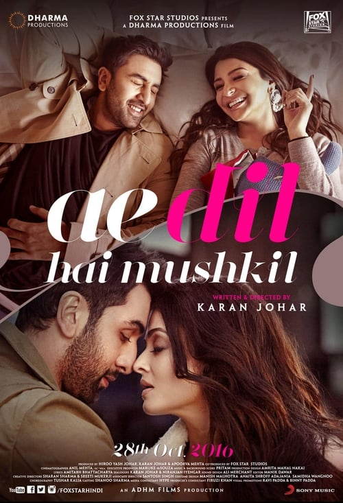 Streaming Ae Dil Hai Mushkil (2016) Movie Free Online