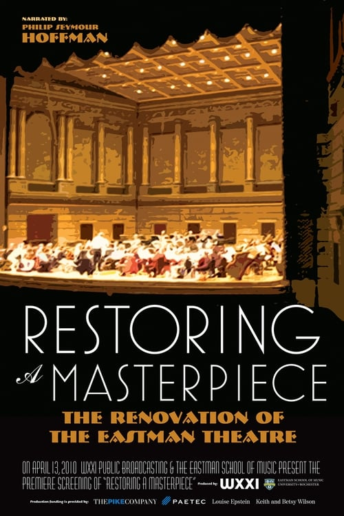 Mira La Película Restoring a Masterpiece: The Renovation of Eastman Theatre Gratis En Línea