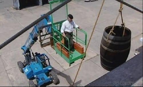 MythBusters: Season 2003 – Épisode Barrel of Bricks