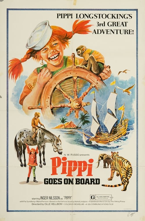 Pippi Goes on Board (1969) Poster