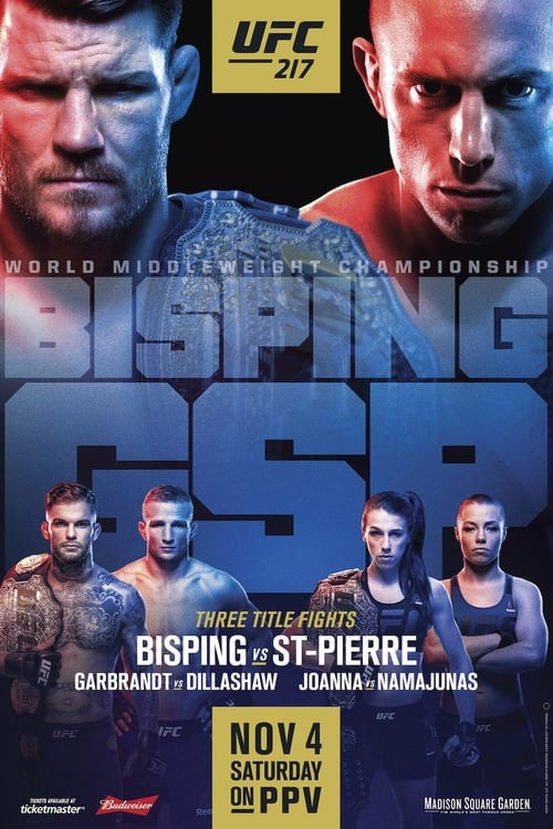 UFC 217: Bisping vs. St-Pierre (2017) Poster