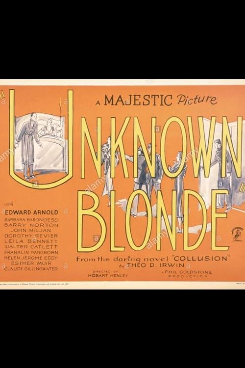 Unknown Blonde (1934)