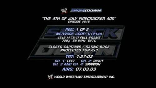 Wwe Smackdown Live 2008 Full Tv Series: Season 10 – Episode July 4, 2008