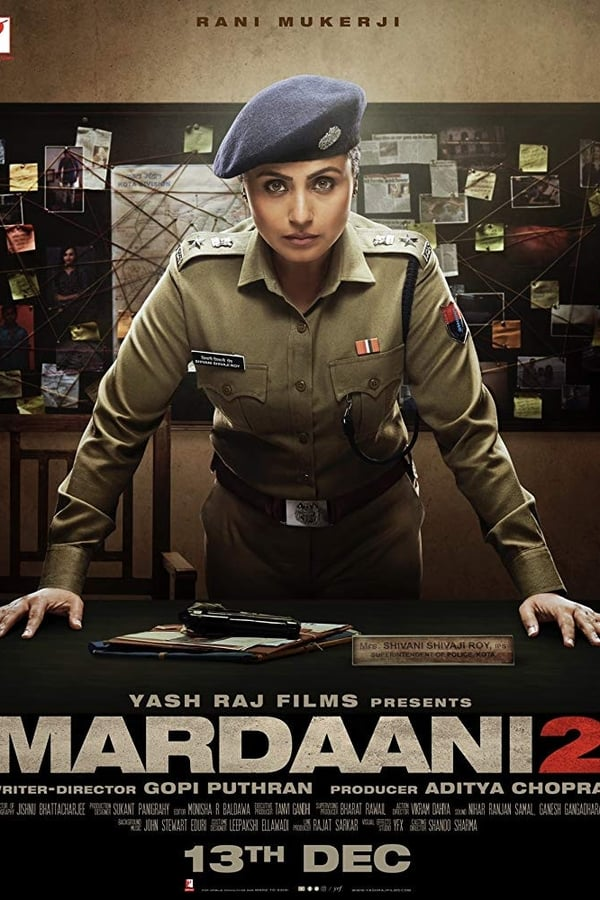 Mardaani 2 (2019) Hindi Full Movie 720p PreDVD Rip | 480p | 1.1GB | 400MB | Download | Watch Online | Direct Links | GDrive
