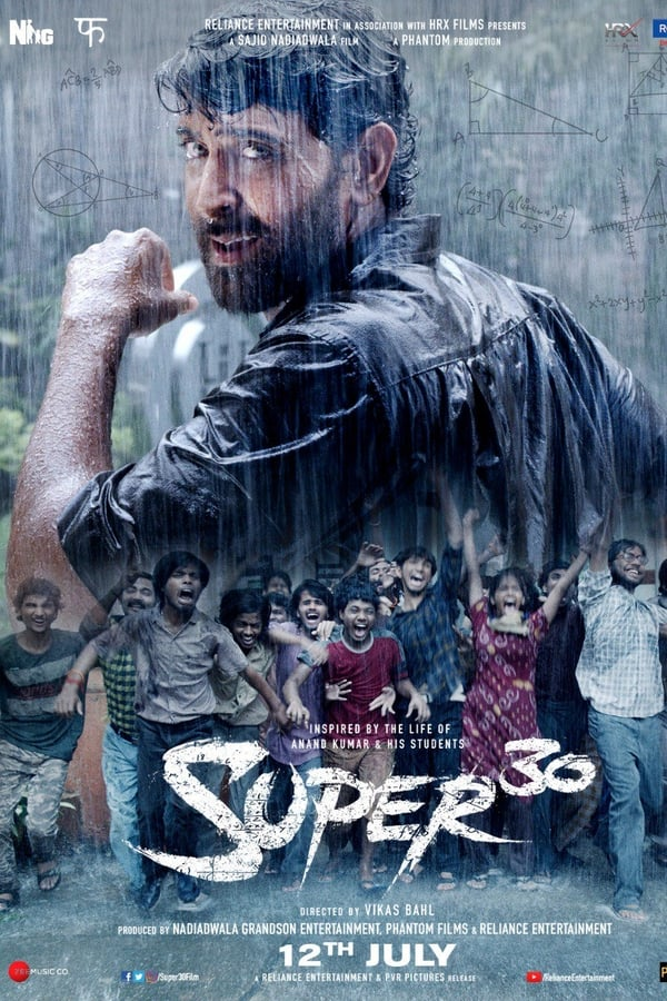 Super 30 (2019) Hindi Full Movie 1080p WEB-DL | 720p | 480p | 1.90 GB, 805 MB, 520 MB | Download | Watch Online | Direct Links | GDrive