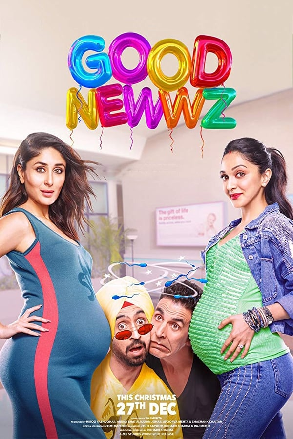 Good Newwz (2019) Hindi | x265 10bit AMZN WEB-Rip HEVC | 1080p | 720p |  480p