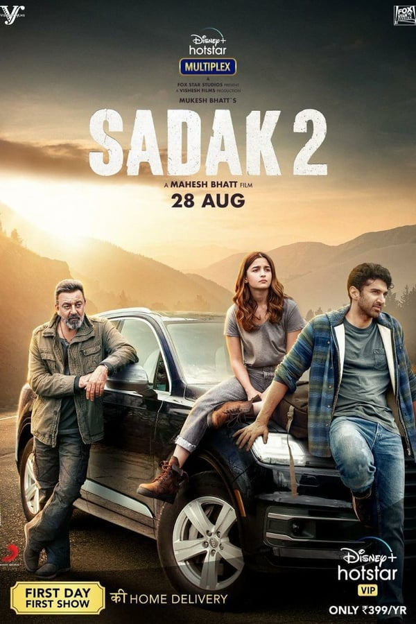 Sadak 2 (2020) Hindi 720p WEB-DL [DDP5.1] x265 AAC 800MB