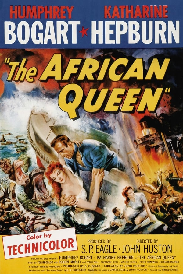 The African Queen (1952) Poster
