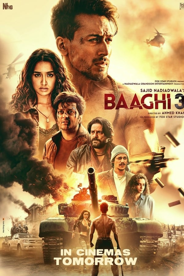 Baaghi 3 (2020) Hindi | x264 HQ Pre-DVD | 720p | 480p | Download | Watch Online | GDrive | Direct Links