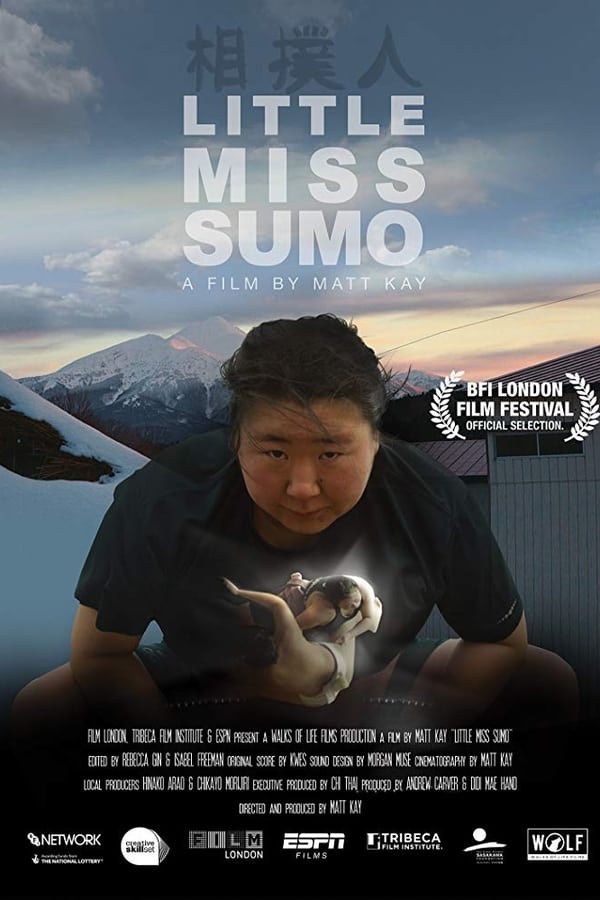 Ela Luta Sumô poster, capa, cartaz