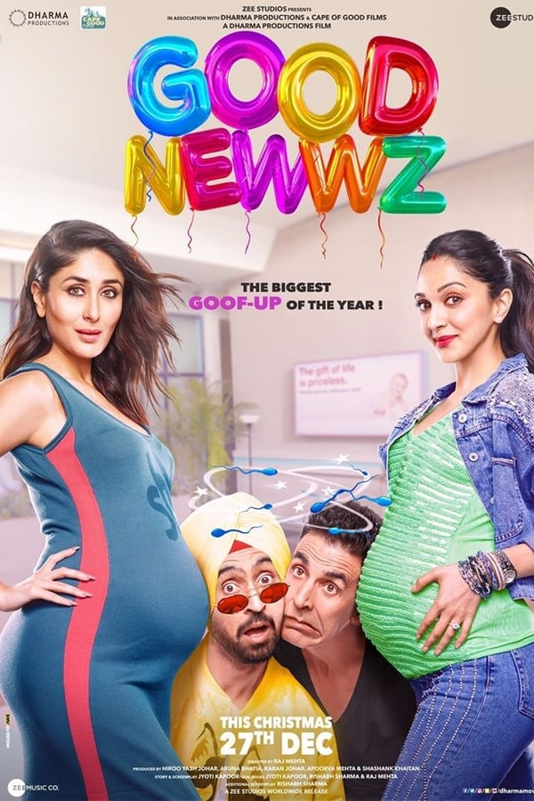 Good Newwz (2019) Hindi Pre DvDRip 720p | 480p | Download Bollywood Movies | Watch Online | GDrive | Direct Links