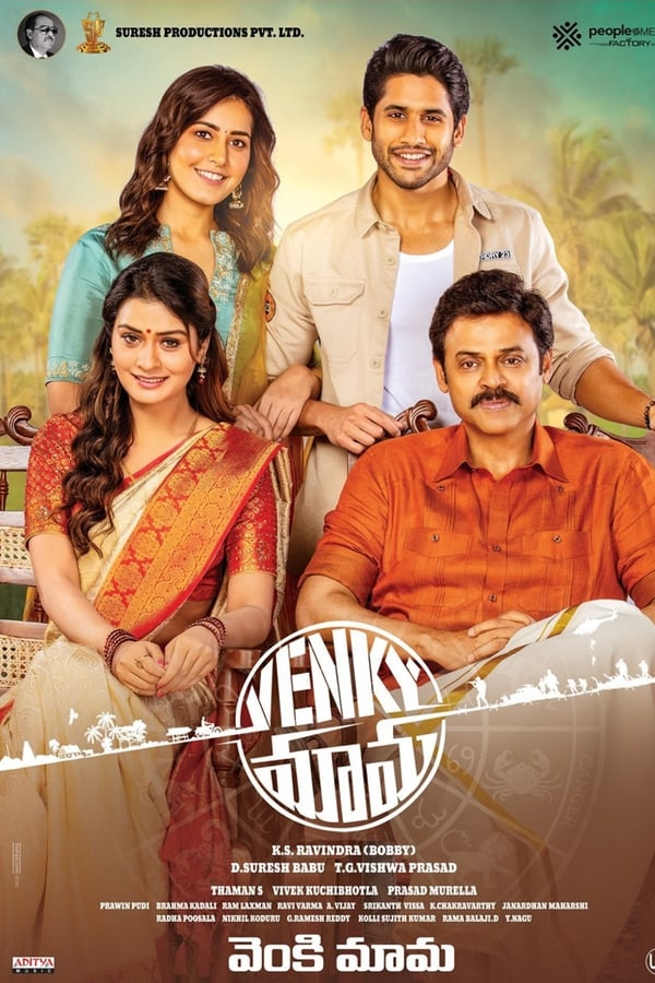VENKY MAMA (2019) Telugu Hindi Subs 480p HDRip ESubs 400MB