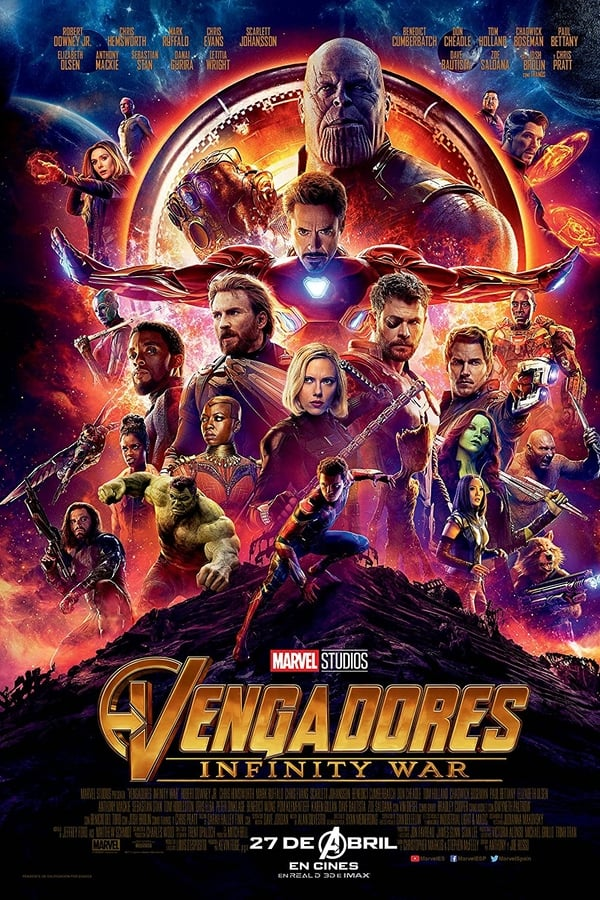 Avenger Infinity War (Español latino) Mp4 1080p 2GB [Mega – Mediafire]