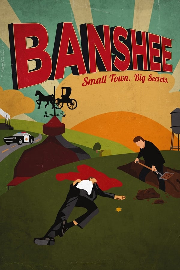 Banshee is an American drama television series set in a small town in Pennsylvania Amish country and features an enigmatic ex-con posing as a murdered sheriff who imposes his own brand of justice while also cooking up plans that serve his own interests.