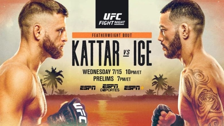 Watch UFC on ESPN 13: Kattar vs. Ige Putlocker Movies