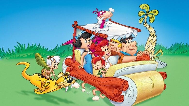 The Flintstones banner backdrop