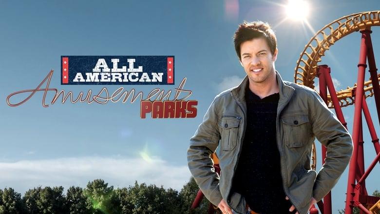 All-American Amusement Parks banner backdrop