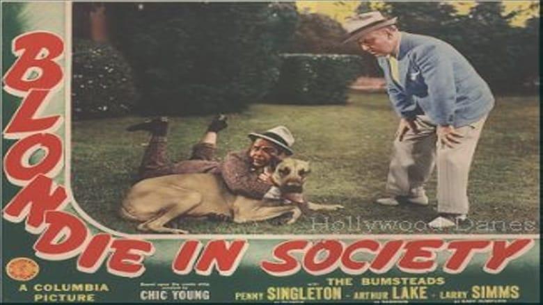 Se Blondie in Society swefilmer online gratis