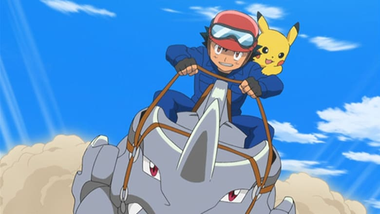 Pokémon Season 17 Episode 7 Giving Chase At The Rhyhorn Race