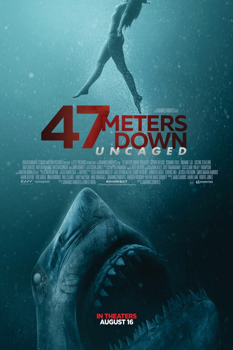 Watch 47 Meters Down: Uncaged (2019) Online Free 123movies